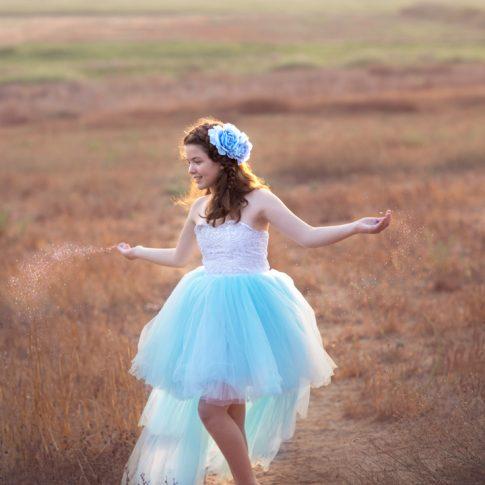 בוק בת מצווש לנוגה שמלה כחולה