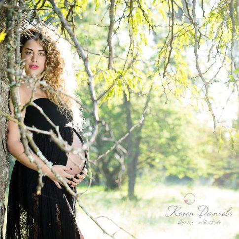 צילומי הריון מבעד לעצים