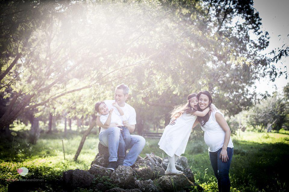 צילומי הריון ומשפחה משפחת בוצ'ינסקי