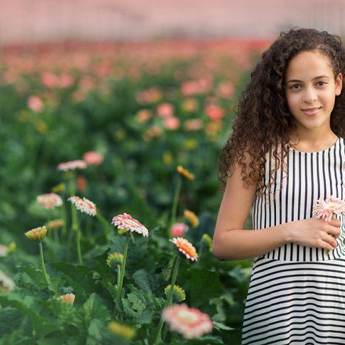בוק בת מצווה של נועם בחממת פרחים