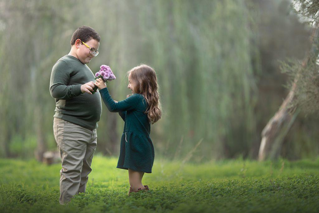 צילומי ילדים פרח